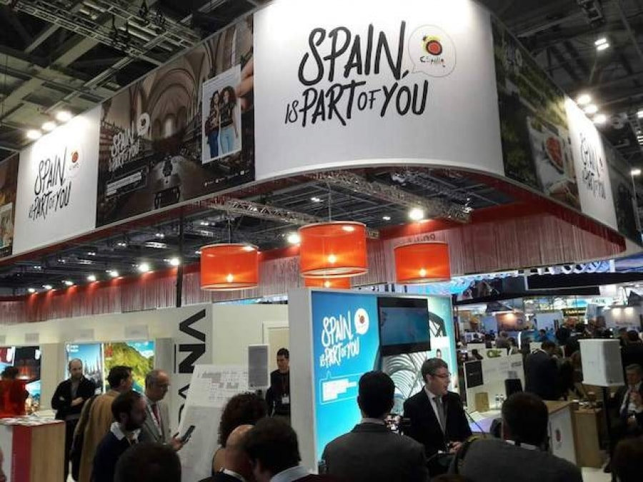 Imatge de l'estand del GCPHE a la World Travel Market de Londres