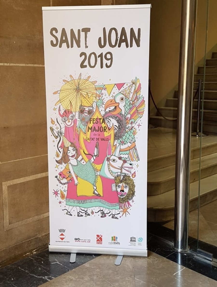 El cartell de la Festa Major de Sant Joan de Valls
